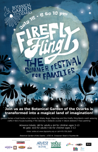Firefly Fling @ Botanical Garden of the Ozarks