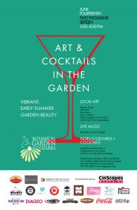 Art and Cocktails in the Garden @ The Botanical Garden of the Ozarks