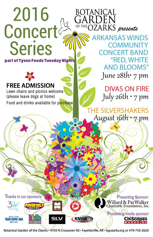 Free Summer Concert Series Botanical Garden Of The Ozarks