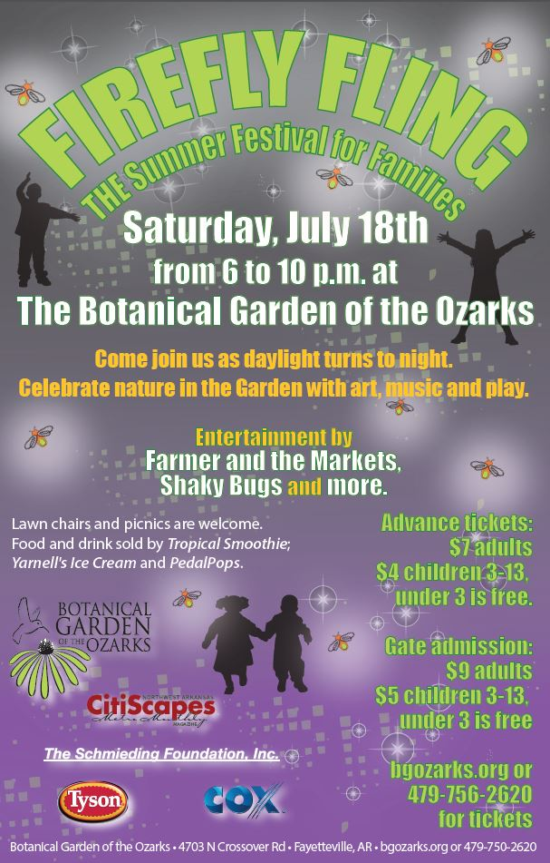Firefly Fling Botanical Garden Of The Ozarks Learn Play Grow