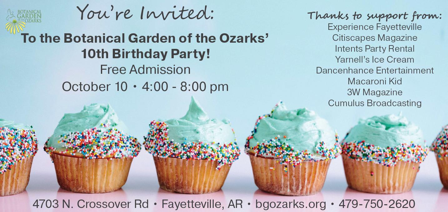 Bgo 10th Birthday Party Botanical Garden Of The Ozarks